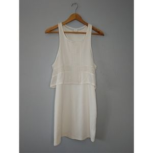 American Eagle White Tiered Layered Mid Dress
